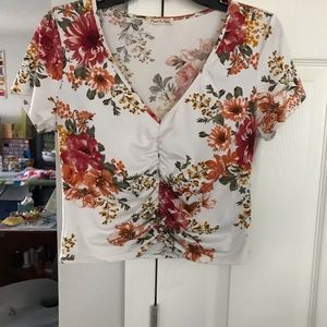 Floral Heart & Hips top size large